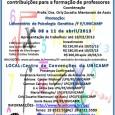 PROEPRE e Educação Matemática: Contribuições para a Formação de Professores - De 08 a 11 de Abril/2013