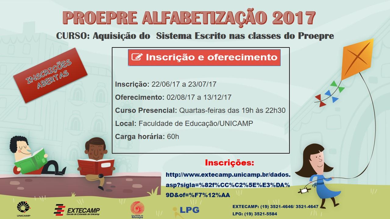 Curso Alfabetização _ Flayer Divulgação